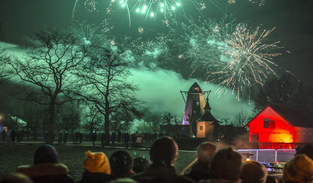 Winteravond in Bokrijk België