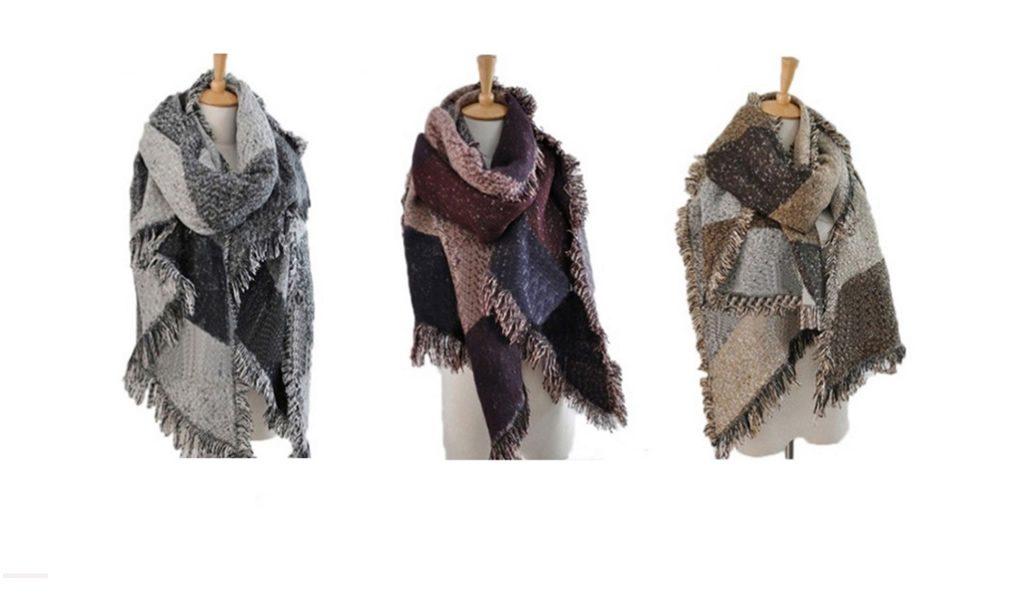 Trendy warme sjaal