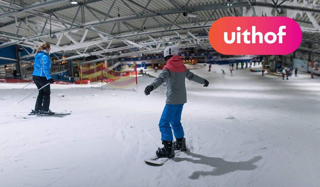 Ski�n/snowboarden bij De Uithof