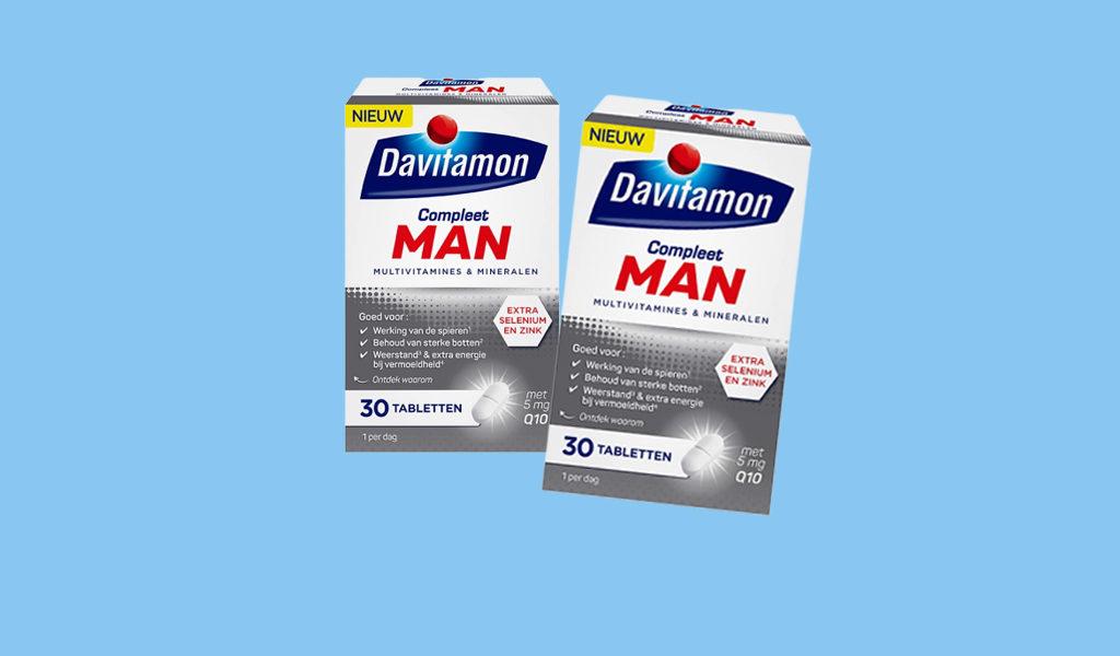 Korting Set van 2 Davitamon compleet man