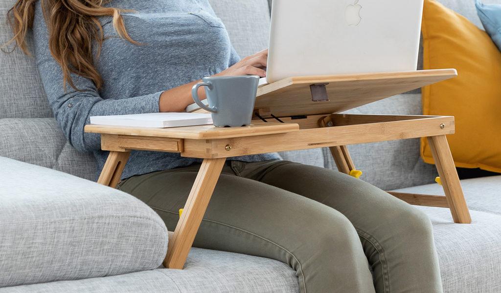 Bamboe opklapbare laptoptafel
