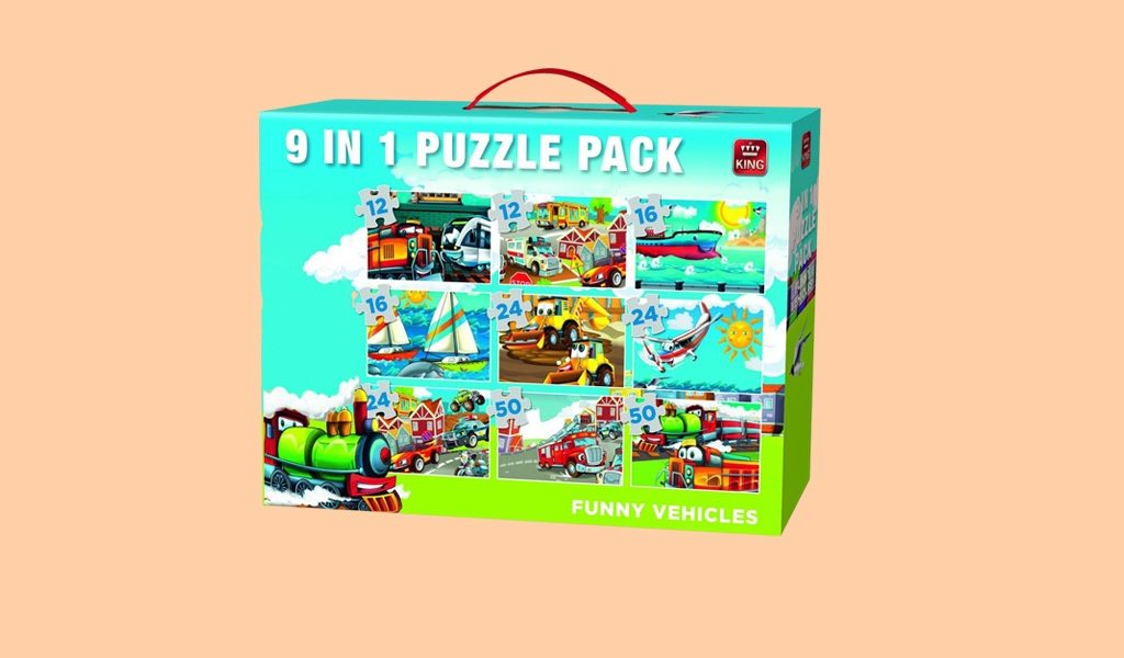 Korting 9 in 1 kinder puzzelbox