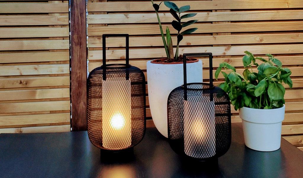 Set van 2 led lantaarns