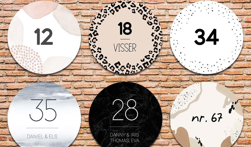 Huisnummerbord met eigen ontwerp