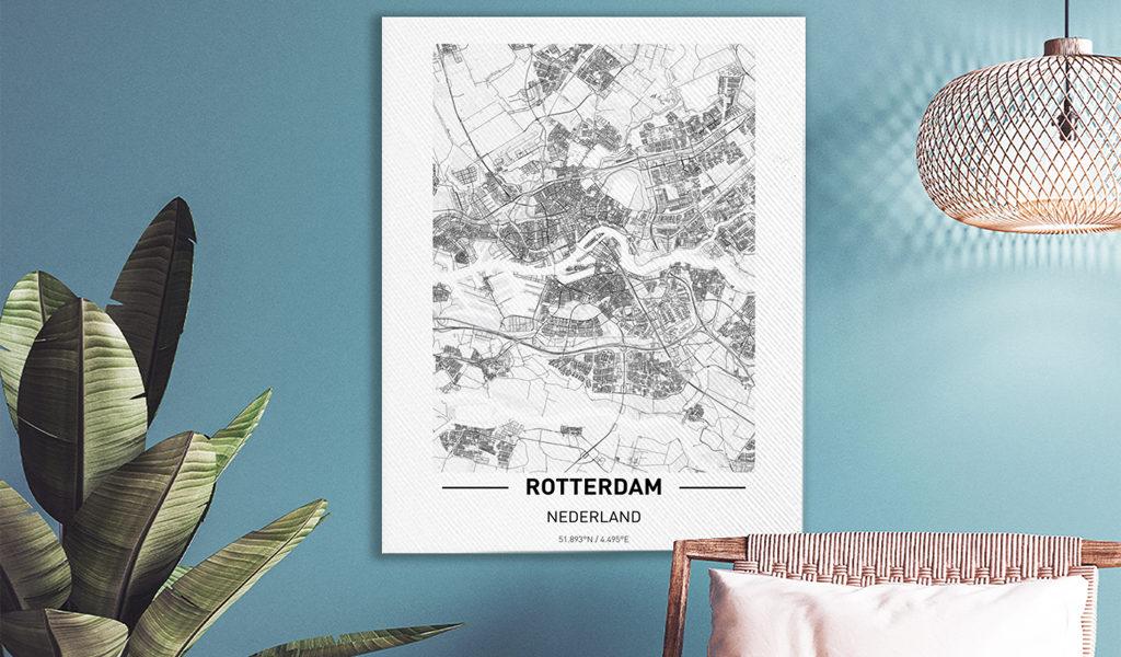Canvas met eigen stad naar keuze